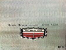 Mercury 1969 USA Market Sales Brochure Cougar Montego Cyclone Marauder Marquis
