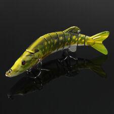 5'' 20g Multi-jointed 9-Segement Pike Fishing Lure Muskie Swimbait Bass Hook