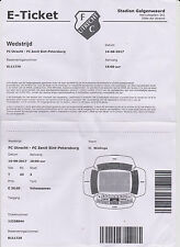 Sammler Used E-Ticket / Entrada FC Utrecht v FC Zenit Saint-Petersburg 16-8-2017