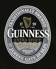 Tee Shirt, Imported Beer, Guinness 1759 Extra Stout, Official Product, Black, L
