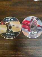 THOR: THE DARK WORLD (4K Ultra HD + Blu-Ray) NO CASE! PREOWNED!
