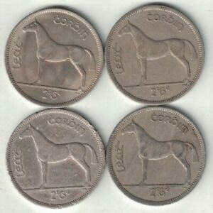 Ireland Collection of 4 Half Crown Coins 1959-1966 All Listed & Different