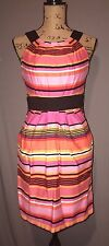 A. Byer Fitted Striped Sleeveless Dress - Size 7