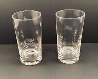 Vintage Drinking Glasses Tumblers Atomic Stars Set Of 2