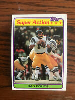 1981 Topps #153 Dan Fouts Football Card Super Action San Diego Chargers HOF Raw