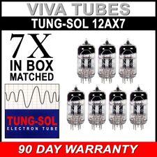 New Gain Matched Septet (7) Tung-Sol Reissue 12AX7 ECC83 Tubes - Auth. Dealer