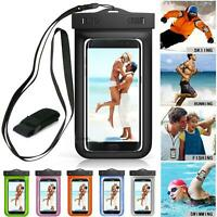 Waterproof Underwater Swim Pouch Dry Bag Case Cover For Cell Phone Mobile Smart