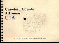 Crawford County Arkansas 1889 Goodspeed History Biographies Van Buren AR New RP