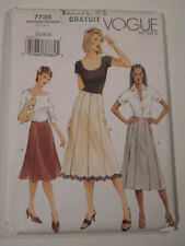 V-7735 A-Line Skirt Sewing Pattern Vogue Size 12-14-16 Uncut