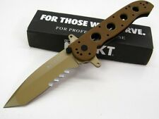 COLUMBIA RIVER CRKT Desert Tan Tactical SPECIAL Forces M16-14DSFG TANTO Knife!