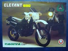 CAGIVA ELEFANT 650 - Motorcycle Sales/Specifications Sheet - Italian Text