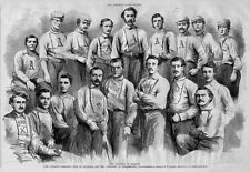 ATLANTIC BASEBALL CLUB OF BROOKLYN AND PHILADELPHIA ATHLETICS 1866 TEAM MEMBERS