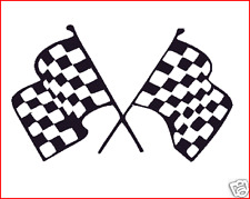 1 PAIR OF LAMBRETTA-VESPA CHEQUERED FLAGS DECAL,STICKER bike race