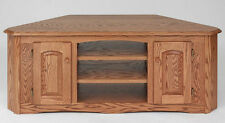 #897 Solid Wood Oak Country Corner TV Stand