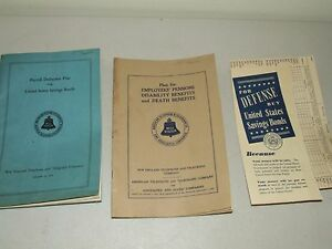 1938 Bell System New England Telephone & Telegraph Co. Employee Benefits Books