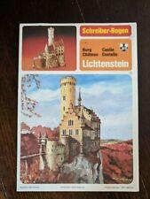 Vintage German Castle Castillo Schreiber-Bogen Paper Kit