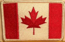 CANADA Flag Patch With VELCRO® Brand Fastener Military Emblem White Border