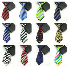Women's Lady Girls Striped Zebra Polka Dot Necktie Adjustable Short School Tie