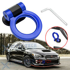 Blue Racing Track Style Plastic Tape Tow Hook Ring Look Decor For Subaru WRX STI