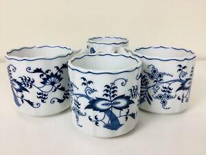 Blue Danube Japan Mugs Set Of 4 Rectangular Logo Blue Onion Design -2 Sets Avail