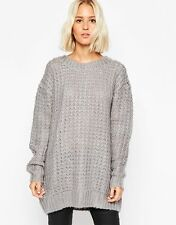 Cheap Monday Women's Chunky Oversize Knit Sweater Grey Size 2 XXS NWT $98