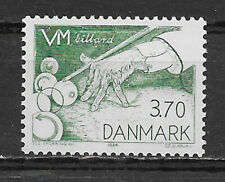DENMARK ,1982, WORLD BILLIARDS CHAMPIONSHIP, SPORTS , 3.70k STAMP , PERF ,MNH