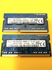 8GB (2 x 4GB) SK Hynix PC3-12800S DDR3, SODIMM Laptop RAM Modules, FAST SHIP!