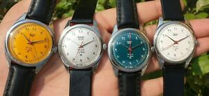 Lot Of 4 HMT Janata Devanagiri Manual Winding 17 Jewels Para Shock Watches