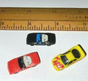 3 TEENY TINY MICRO MACHINES INSIDERS CARS