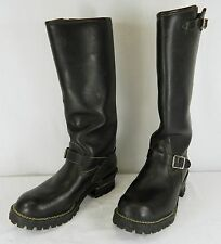 """VINTAGE WESCO 23 01 18"""" BLACK ENGINEER MOTORCYCLE BOOTS MENS SIZE 10 1/2 D"""
