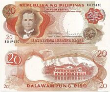 PHILIPPINES 20 PISO P-145b ND(1969) UNC SIGN 8