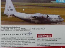 1/500 Herpa Royal Netherlands Air Force Lockheed C-130H Hercules 530477