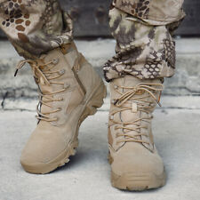 Mens High Top Military Tactical Boots Desert Army Hiking Combat Ankle Boots us12