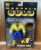 Power Man Luke Cage Vintage Marvel's Gold Action Figure New 1997 Toybiz 90s