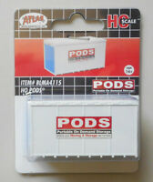 PODS STORAGE SHED HO 1:87 SCALE LAYOUT DIORAMA BLMA ATLAS 4115