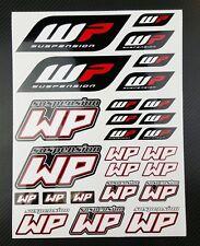 WP White Power shock fork sponsor decals set 9x12'' 26 stickers ktm suzuki honda