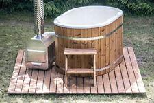 ***FIBERGLASS WOODEN HOT TUB*** 2 SEATER japanese wood fired bath spa ofuro pool