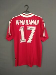 Mcmanaman Liverpool Jersey Domicile 1995 1996 Grand Chemise Hommes Tricot adidas