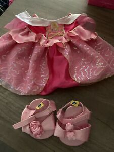 BUILD A BEAR Disney Princess Aurora Sleeping Beauty Dress with shoes