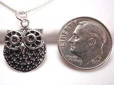 Big Eyed Owl Necklace 925 Sterling Silver Corona Sun Jewelry Nightlife