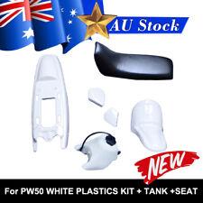 FOR YAMAHA PEEWEE PW50 PY50 PLASTIC FENDER KIT & FUEL TANK (White) + SEAT(BLACK)