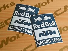 Custom-made KTM Red Bull Racing Team Decals Sticker - Blue White x2