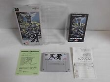 SNES -- EDONO KIBA -- Boxed. Super famicom. Japan game. Work fully. 13291