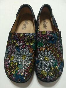 Alegria Kel 564 Daisy Print Clogs Shoes SZ 41 USA 10 / 10.5  Removable insoles