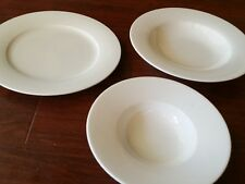 WHITE VILLEROY & BOCH  DEEP PLATE RIMMED PASTA BOWL BOWL HOTEL WARE NEW