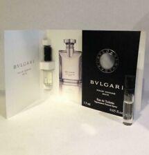 Bvlgari Pour Homme Soir Edt .05 oz. Spray Samples - Set of 2 w/cards