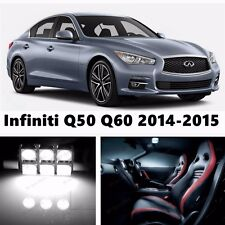 11pcs LED Xenon White Light Interior Package Kit for Infiniti Q50 Q60 2014-2015