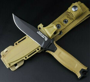 Gerber StrongArm Fixed Blade Knife Coyote Brown Half Tooth Full Blade