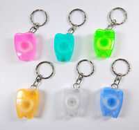 Dental Waxed Floss Key Chains  Mint Flavor For Teeth Cleaning Oral Gum Care 5pcs