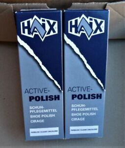 Haix Schuhcreme Schuhpflege für BW Wanderstiefel Arbeitsschuhe 2x75ml Tuben NEU